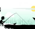 Siluette: pescador