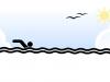 Siluette: nadador