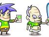 Diseño de personakes vectorial